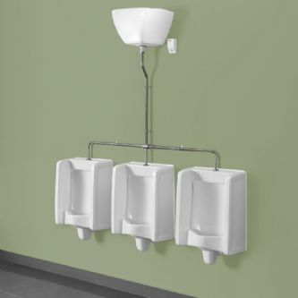 Healey & Lord 3 Station Florida Urinal Kit - Top Inlet with Exposed Cistern